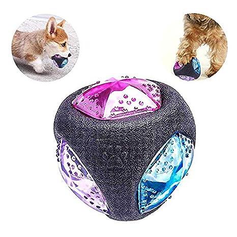 Gloomia - Pelota de Juguete para Perros con luz LED, Bola ...