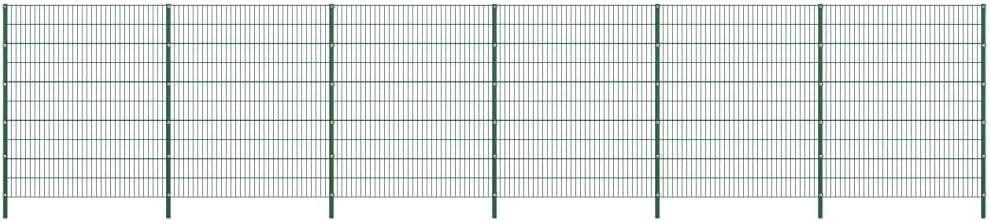 vidaXL Panel de Valla con Postes de Hierro Accesorios de Jardín Ocultación Privacidad Diseño Simple Funcional Resistente Intemperie Verde 10.2x2m: Amazon.es: Bricolaje y herramientas