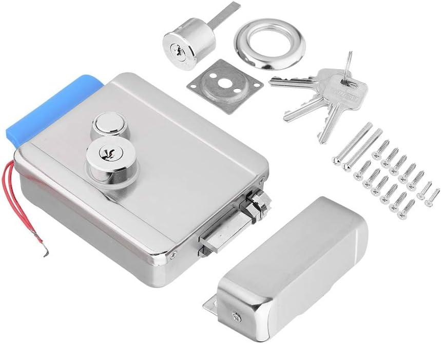 Cerradura eléctrica de Seguridad, Cerradura eléctrica de la Puerta de Control para el Kit del Sistema de Control de Acceso de la Puerta: Amazon.es: Bricolaje y herramientas