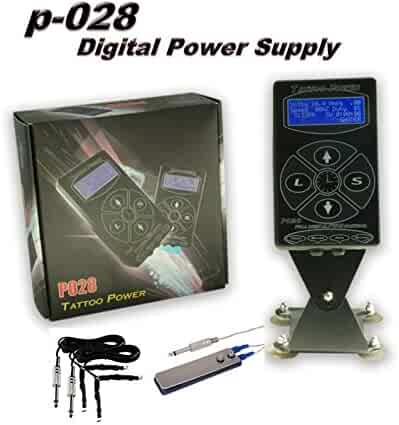15f328b4cb734 DGT New 1st Generation P028 Tattoo Power Supply 1 Foot Pedal 1 Clip cords