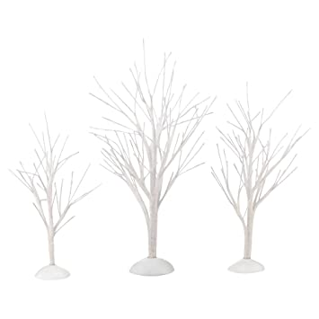 Department 56 Decorative Accessories for Villages White Bare Branch Trees,  1.97 inch (Set of