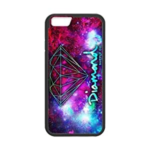 Diamond Pattern Design Solid Rubber Customized Cover Case for iPhone 6 plus 5.5