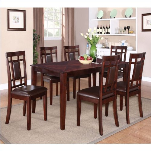 Standard Furniture Westlake 7 Piece Dining Table Set - Rich Golden