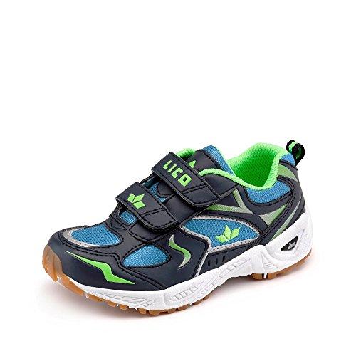 Lico Bob V Teens Sneaker Freizeit Sport Hallen Schuh Outdoor Klett marine 40