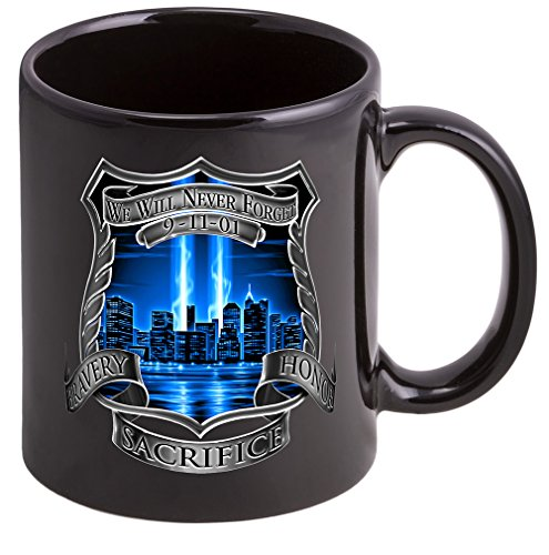 Coffee Cup With Tribute High Honor Police Logo Stoneware