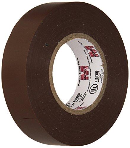 Tape Plastic Brown (Morris 60060 Brown Vinyl Plastic Electrical Tape, 7 mil, PVC, 66' Length, 3/4