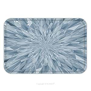Franela de microfibra antideslizante suela de goma suave absorbente Felpudo alfombra alfombra alfombra abstracta cristal triangular 328617974de fondo para Interior/exterior/cuarto de baño/cocina/Estaciones de trabajo