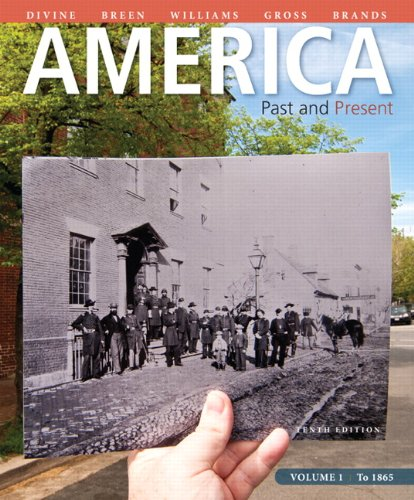 america past and present volume i - 1