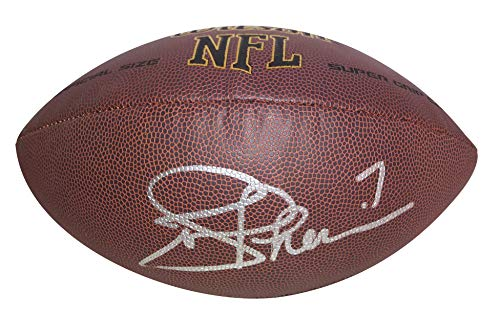 Washington Redskins Joe Theismann Autographed Hand Signed NFL Wilson Football with Proof Photo of Signing, ND Notre Dame Fighting Irish, ()