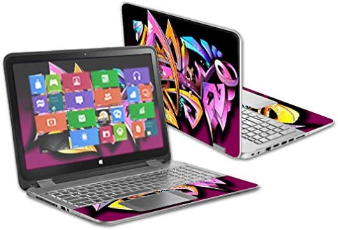 MightySkins Skin Compatible with HP Envy x360 15.6 2014 Version Laptop wrap Cover Sticker Skins Wicked Graffiti