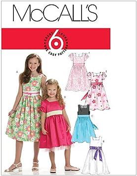 McCalls Patterns M7344 Childrens//Girls Raglan Sleeve Knit Dresses 3-4-5-6 Size CCE