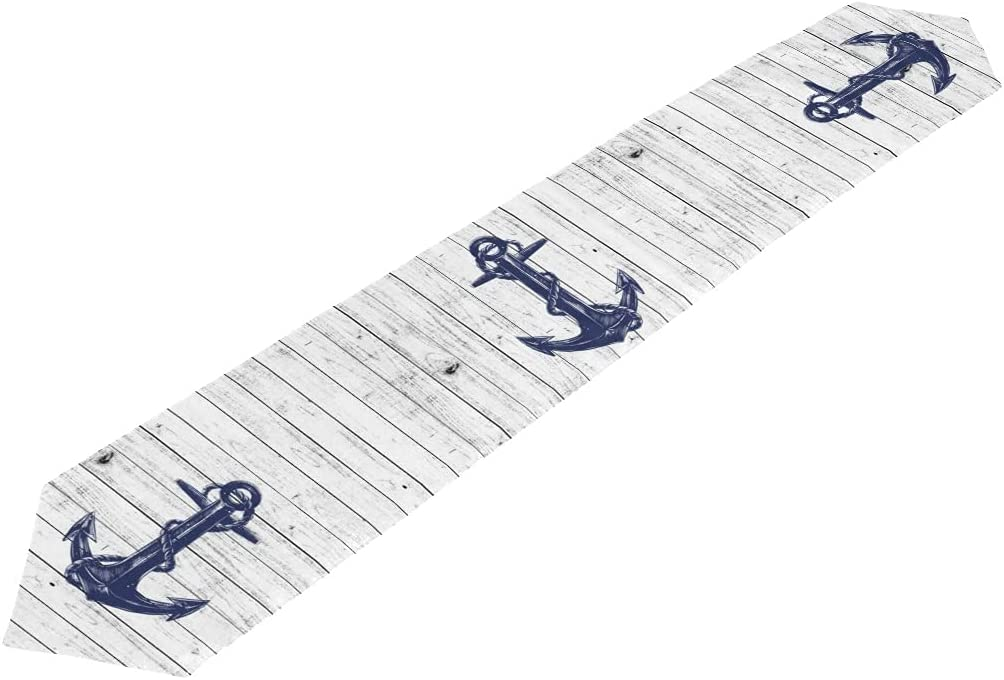 Giwawa Anchor Table Scarves Sailing Table Scarves Home Party Anchor Runner Decoration Anchor Table Scarves 13x70 Inch Table Scarves Table Runner Wedding Dinner Birthday Home Decoration