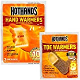 HotHands Hand & Toe Warmers - Long Lasting Safe Natural Odorless Air Activated Warmers - 10 Pair OF Hand Warmers & 2 Pair Of Toe Warmers