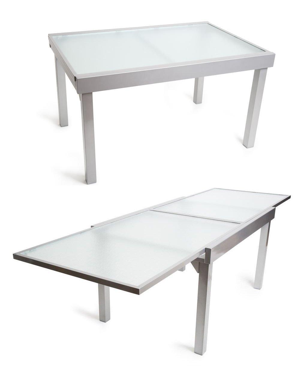 Amazon.de: 7-tlg. Luxus - Sitzgruppe Amalfi, Alu + Glas + ...
