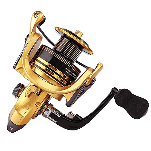 Thekuai Summer and centron Spinning Reels,13+1 BB Corrosion Resistant Bearings Smooth Powerful Fishing Reel Spinning, 5.5:1 Gear Ratio Reels. Left/Right Interchangeable (XF 5000) (Best Saltwater Spinning Reel 2019)