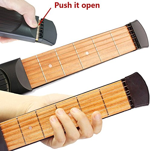 greenten pocket guitar practice strings tool gadget 6 fret portable finger guitars trainer. Black Bedroom Furniture Sets. Home Design Ideas