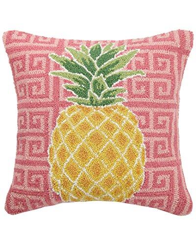 Suzanne Nicoll Pretty Pineapple Hook, 18x18 Throw Pillow