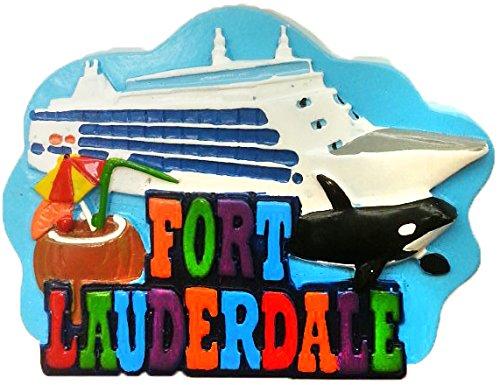 Fort Lauderdale Cruise Ship Souvenir Refrigerator Magnet (Fort Lauderdale Magnet Refrigerator)