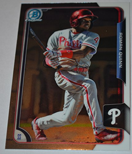 2015 Bowman Chrome Roman Quinn Baseball Card BCP7