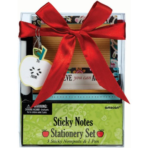 Amscan Sticky Notes Stationary Set for Graduation Party Gift (4 Piece), Multicolor, 4