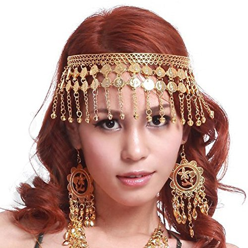 Belly Dancer Costumes Ideas (BellyLady Belly Dance Tribal Gold Coins Headband, Gypsy Jewelry, Idea Idea)