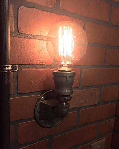 Ste&unk Compact Wall Sconce industrial light. Cast iron wall art & Amazon.com: Steampunk Compact Wall Sconce industrial light. Cast ...