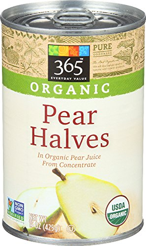 365 Everyday Value, Organic Pear Halves in Organic Pear Juice from Concentrate, 15 Ounce