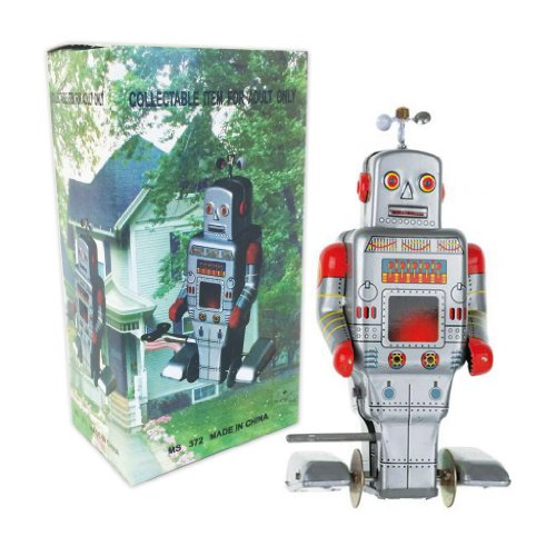 Vintage Style Side Stepping Mechanical Robot by Off the Wall Toys