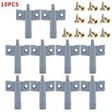 kitchen cabinet clamps - 10 x Kitchen Cabinet Door Drawer Soft Quiet Close Closer Damper Buffers + Screws
