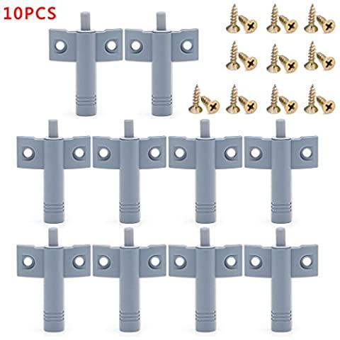 10 x Kitchen Cabinet Door Drawer Soft Quiet Close Closer Damper Buffers + Screws - Close Damper Pull