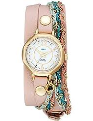 La Mer Collections Womens LMDEL1005 Sydney Analog Display Quartz Champagne Watch