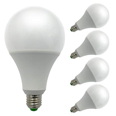 Pack de 4 bombillas, E27, luz de 12 V AC/DC 15 W
