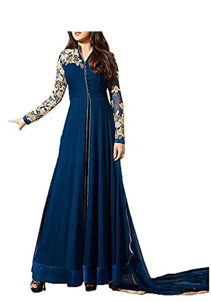 a6745ebf053b Royal Export Women S Anarkali Salwar Suit Set (lt bllue Blue Free ...