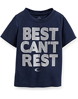 Carters Baby Boys Best Can't Rest Athletic Tee Navy 9M