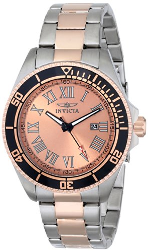 Invicta Men's INVICTA-15001 Pro Diver Two-Tone Rose Gold-Plated Stainless Steel Watch