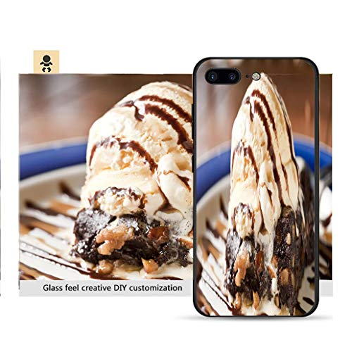 iPhone 7p / 8p Ultra-Thin Phone case Vanilla Ice Cream and Walnut Brownie Resistance to Falling, Non-Slip, Soft, Convenient Protective case
