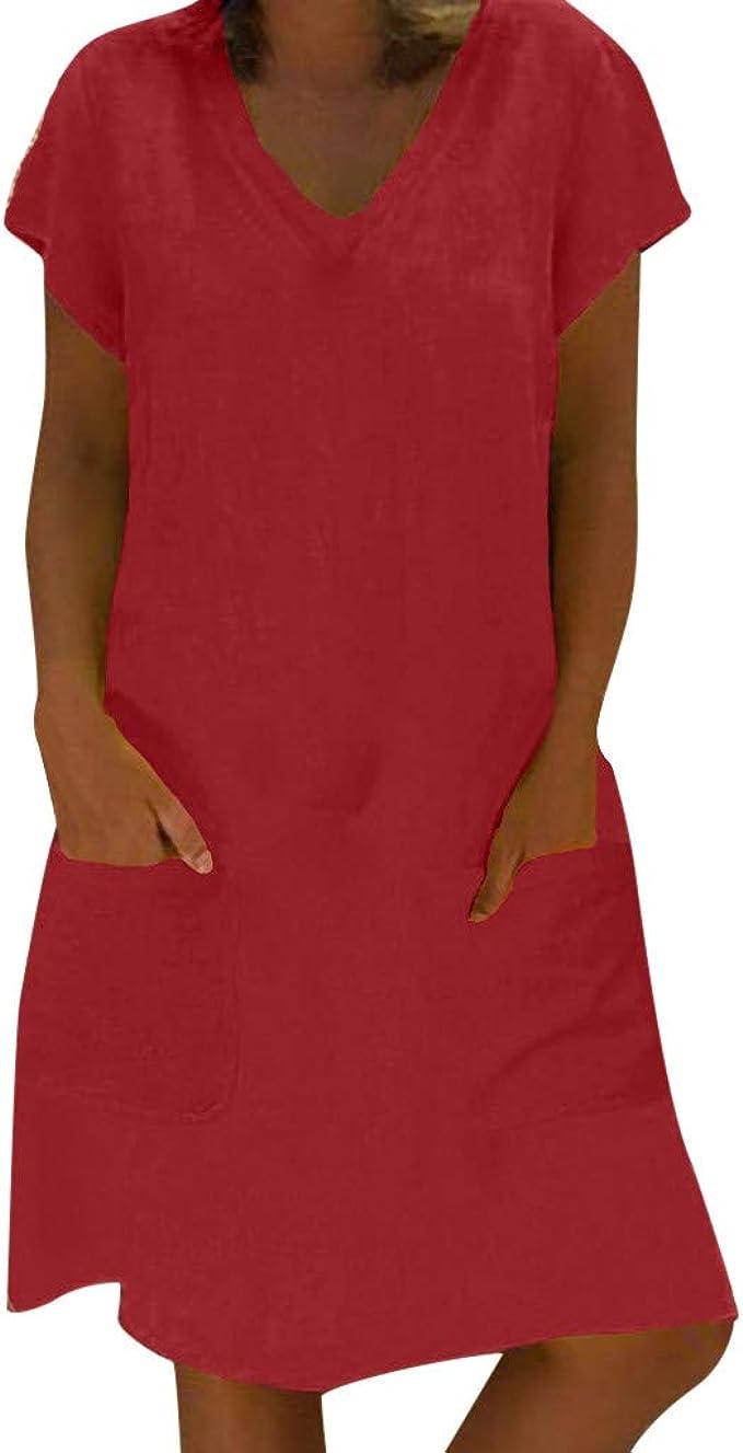 Short dress Linen shirt Linen maxi dress for woman Short Linen dress with pockets Empire waist linen dress
