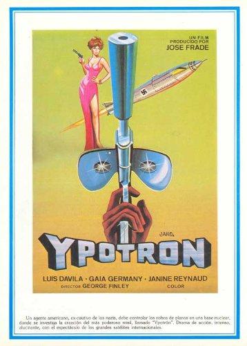 Ypotron - Final Countdown POSTER Movie (1966) Spanish Style A 27 x 40 Inches - 69cm x 102cm (Luis Dávila)(Gaia Germani)(Alfredo Mayo)(Jesús Puente)(Janine ()