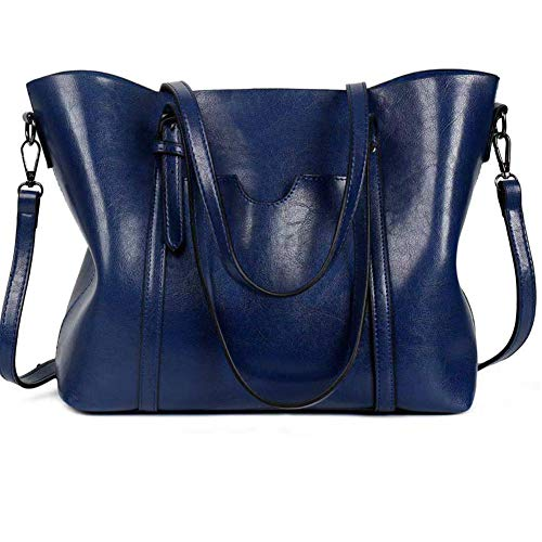 Women Genuine Leather Top Handle Satchel Daily Work Tote Shoulder Bag Large ()