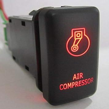 HERCHR - Compresor de Aire para Hilux Cruiser Prado Cruiser (12 V), Color Rojo: Amazon.es: Coche y moto