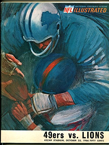 San Francisco 49ers NFL Football Program-Detroit (1966 Detroit Lions)