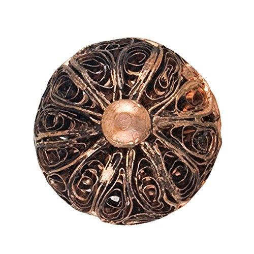 Ornamental Copper Filigree Knob - Set of 3