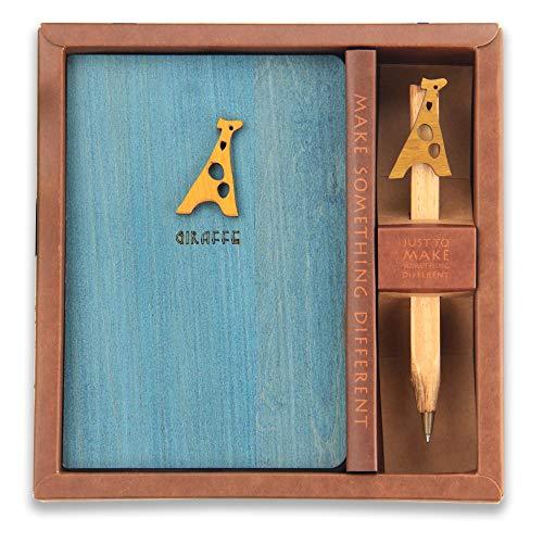 (Giraffe Travel Diary Journal with Wooden Pen 3.6
