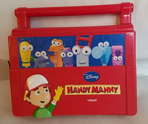 Disney Handy Manny Vtech Construction Talking Toolbox Laptop Bilingual
