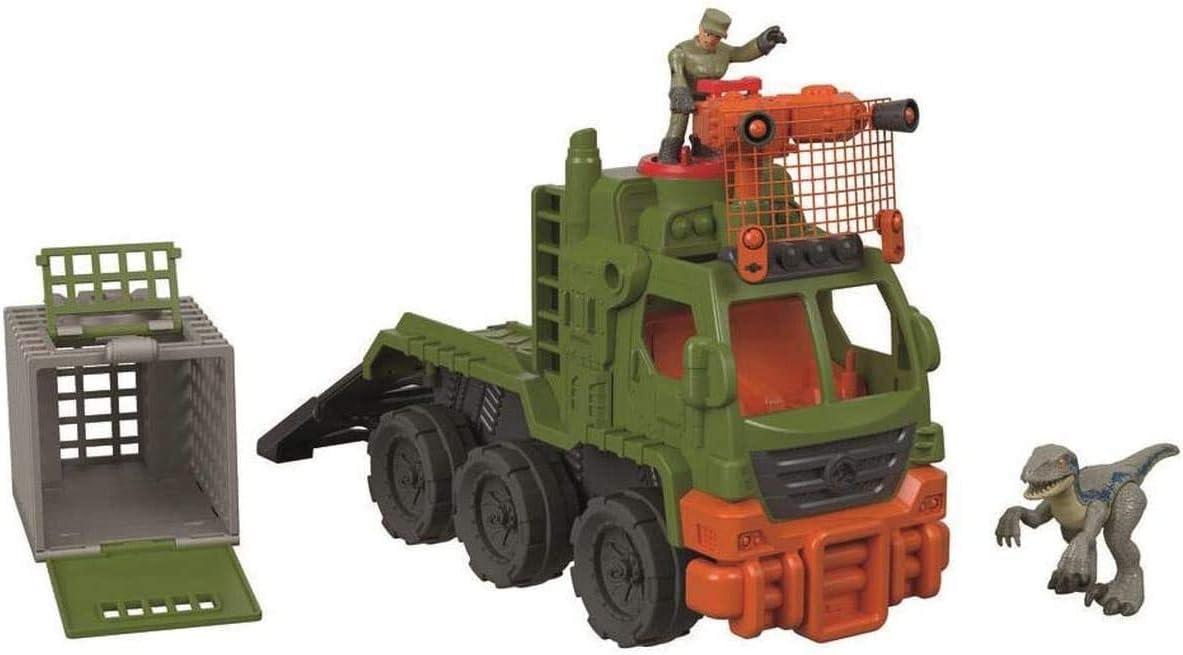 Imaginext - Jurassic World - Camión atrapa-dinosaurios - juguetes niños 3 años - (Mattel FMX87)