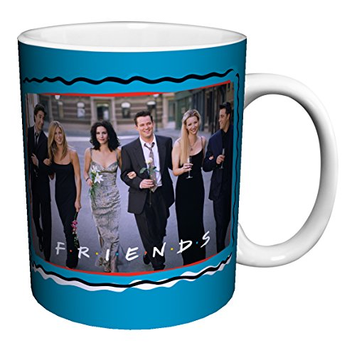 Friends Tv Show Cast - Friends Cast Dressed Up TV Television Romantic Sitcom Show Ceramic Gift Coffee (Tea, Cocoa) 11 Oz. Mug