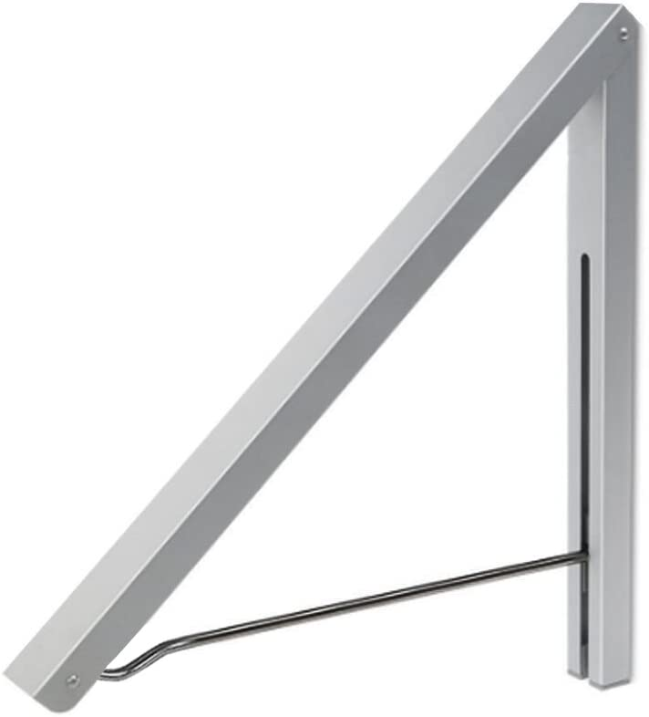 Anjuer Perchero de Pared Aluminio Percha Plegable para Ahorrar Espacio Plata