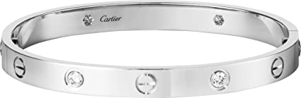 8a26dabed495 Joyería Palace Cartier Style Love Pulsera réplica Oro Blanco de 14 K ...