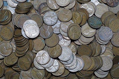 1940 - 1958 Lincoln Wheat Cents, Lot of 1,000 Coins Circulated