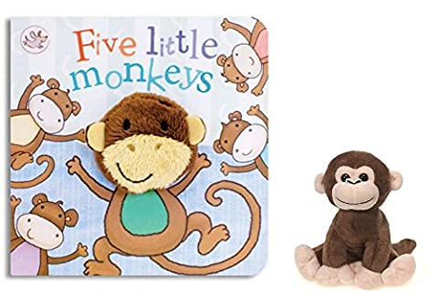 Little Learners Finger Puppet Board Book - Five Little Monkeys Little Learners Finger Puppet Board Book - Five Little Monkeys and Plush - Monkey Finger Puppet